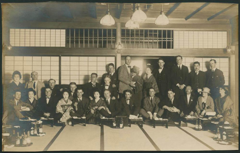 Indiana University Baseball 1922 Japan The Maple Club of Tokyo 芝の紅葉館